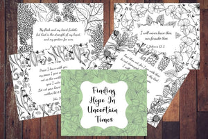 Finding Hope In Uncertain Times Adult Coloring Sheets
