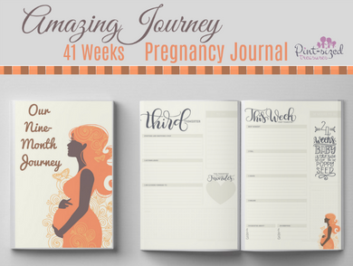 41 Week Amazing Journey Printable Pregnancy Journal
