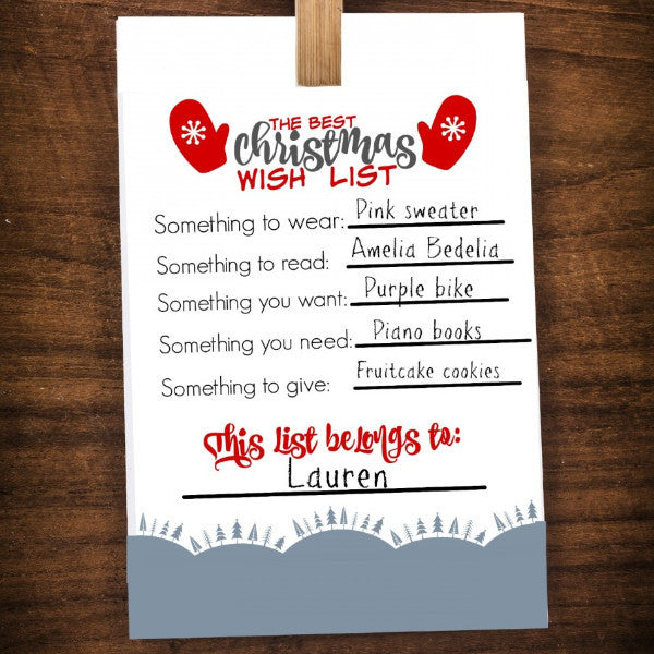 Best Christmas Wish List Printable