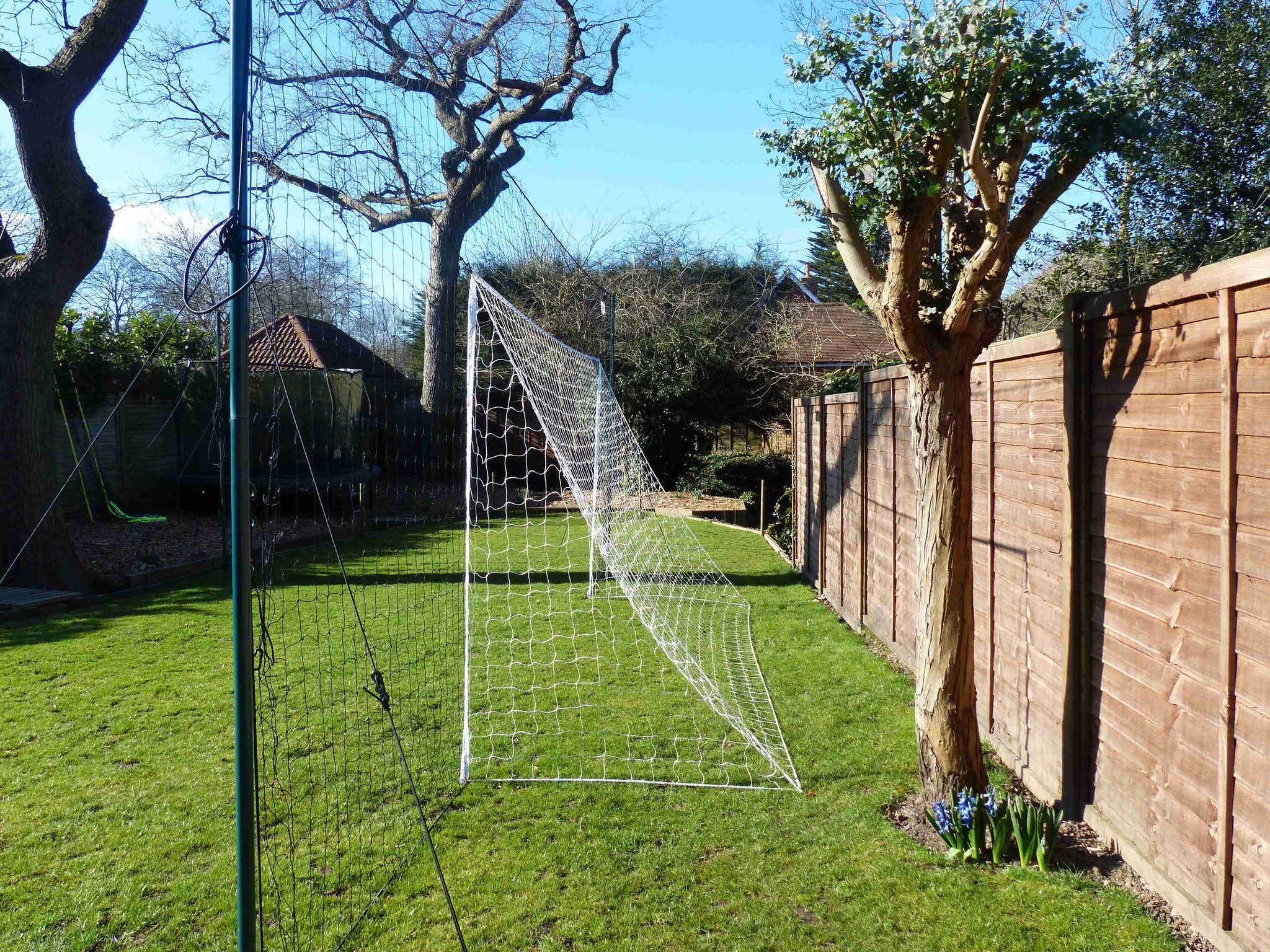 stops balls going over football goal nets large open goaaal us
