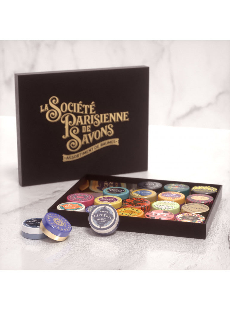 La Societe Parisienne de Savons Gift Box of Assorted Baumes (Balms) - 12pc (33gr/1.16oz each)