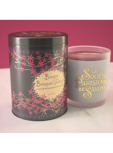 La Societe Parisienne de Savons Scented Candles in Collectible Tins (Small)- 76gr / 2.68oz each - LAST ONES !