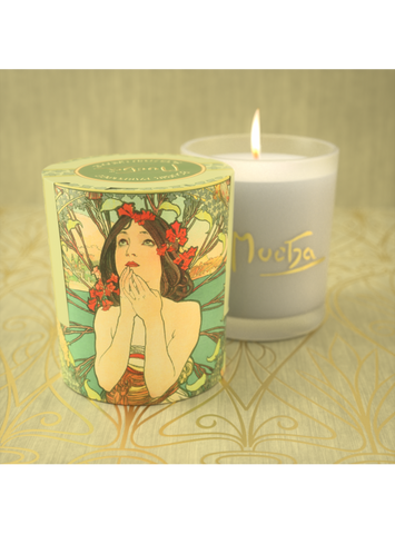 Alfons Mucha Scented Candles in Glass Container (Medium) -120gr / 4.23oz each