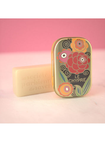 La Societe Parisienne de Savons Soliflore Collectible Soaps in Tins - 20gr / .71oz each