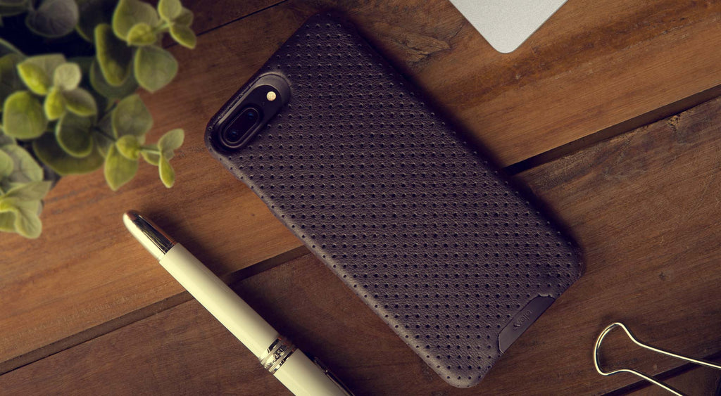 Grip leather case for iPhone 7 Plus 1