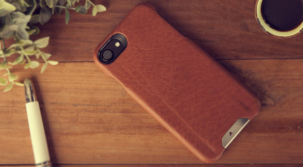 Grip iPhone 8 leather case