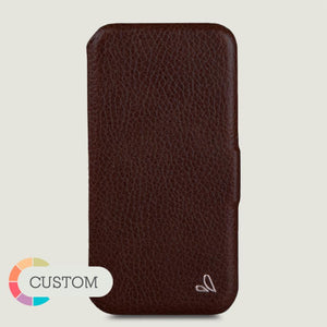 Customizable iPhone 11 Pro Folio leather case - Vaja