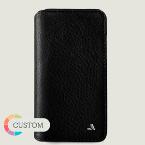 Customizable iPhone 11 Wallet leather case - Vaja