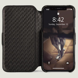 Folio LP iPhone XS Max Leather Case - Vajacases