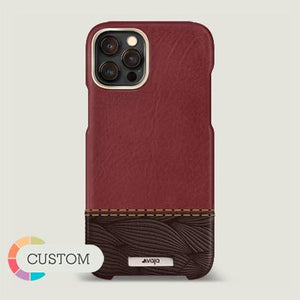 Customizable Grip Duo iPhone 12 & 12 Pro Leather Case - Vaja