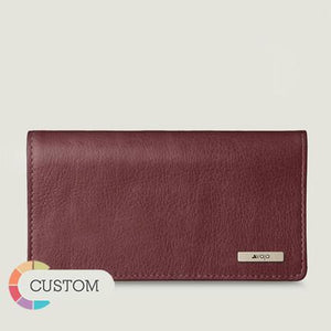 Customizable Leather Checkbook Cover - Vaja