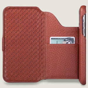 Folio Wallet Stand iPhone 11 Pro leather case - Vaja