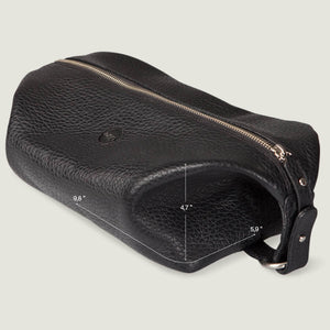Travel Leather Wash Bag
