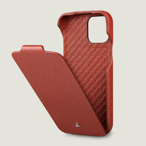 Top iPhone 12 & 12 Pro leather case with MagSafe - Vaja