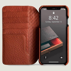 Wallet Agenda - iPhone XS Max Wallet Leather Case - Vajacases