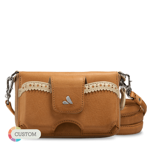 Customizable Ella Universal Carryall - Premium Leather Cross-Body Bag and Clutch