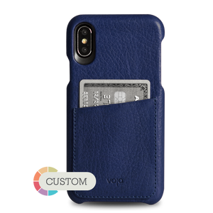 Custom Grip ID iPhone X Leather Case