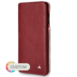 Custom Wallet Agenda Silver Iphone 8 Plus - Vajacases
