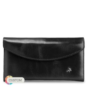 Classic Leather Lady Wallet - Premium leather Horizontal lady wallet - Wallets - 1