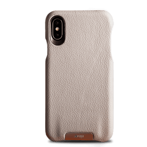 Grip Tough Grey iPhone X Leather Case