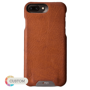 Customizable Grip - iPhone 8 Plus leather case - Vajacases