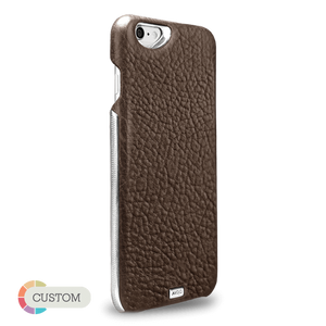Customizable Grip Silver Montana - Unique iPhone 6/6s leather case