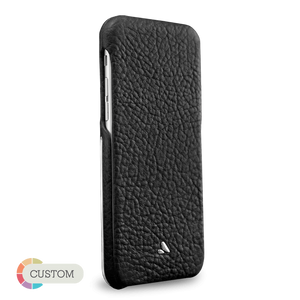 Customizable Top Silver Argento - Luxury iPhone 6/6s leather cases - Top Flip for iPhone 6/6s - 1