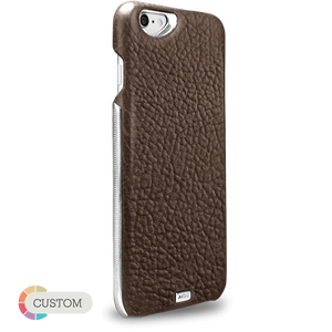 Customizable Grip Silver Montana - Unique iPhone 6 Plus/6s Plus leather case