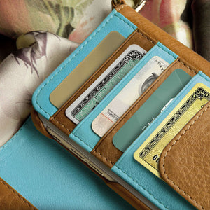 Lola XO - iPhone 6/6s Plus leather Wallet with detachable case