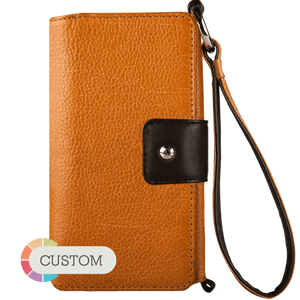Customizable Lola XO IPhone 7 Plus leather wristlet case