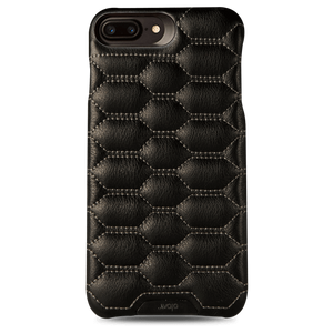 Grip Matelasse + iPhone 8 Plus Quilted Leather Case - Vajacases