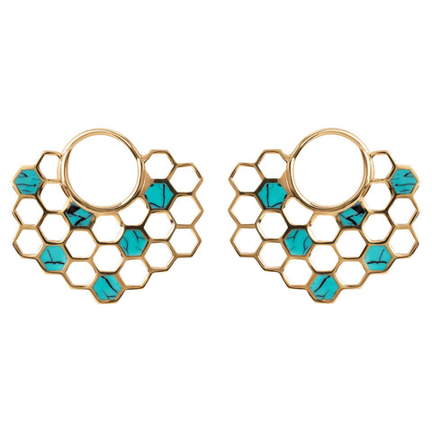 Fine metal earrings with Turquoise
