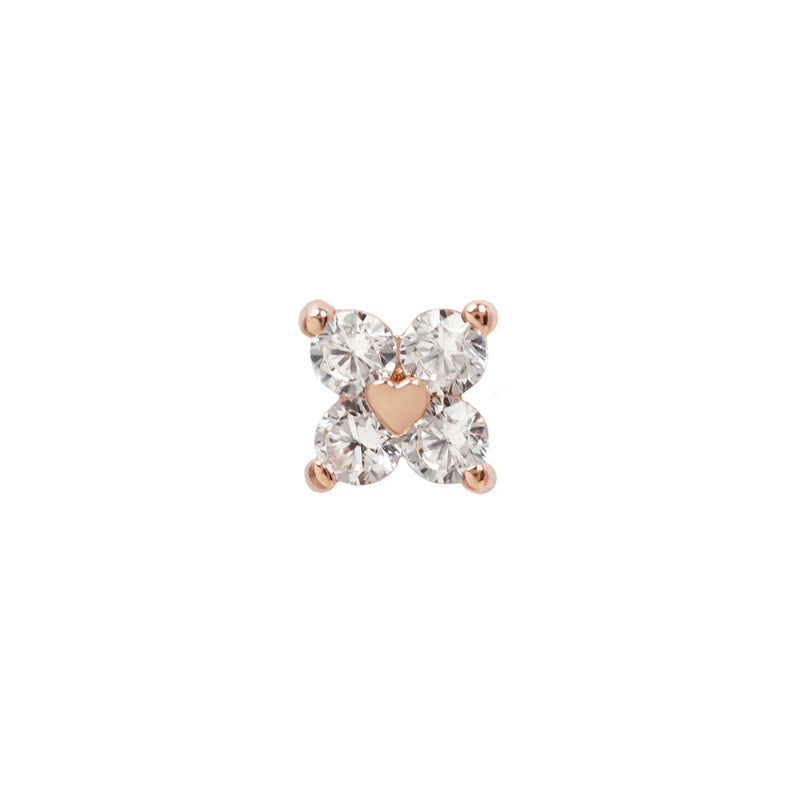 Corazon CZ in rose gold