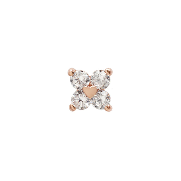 Corazon Diamond in Solid Rose Gold