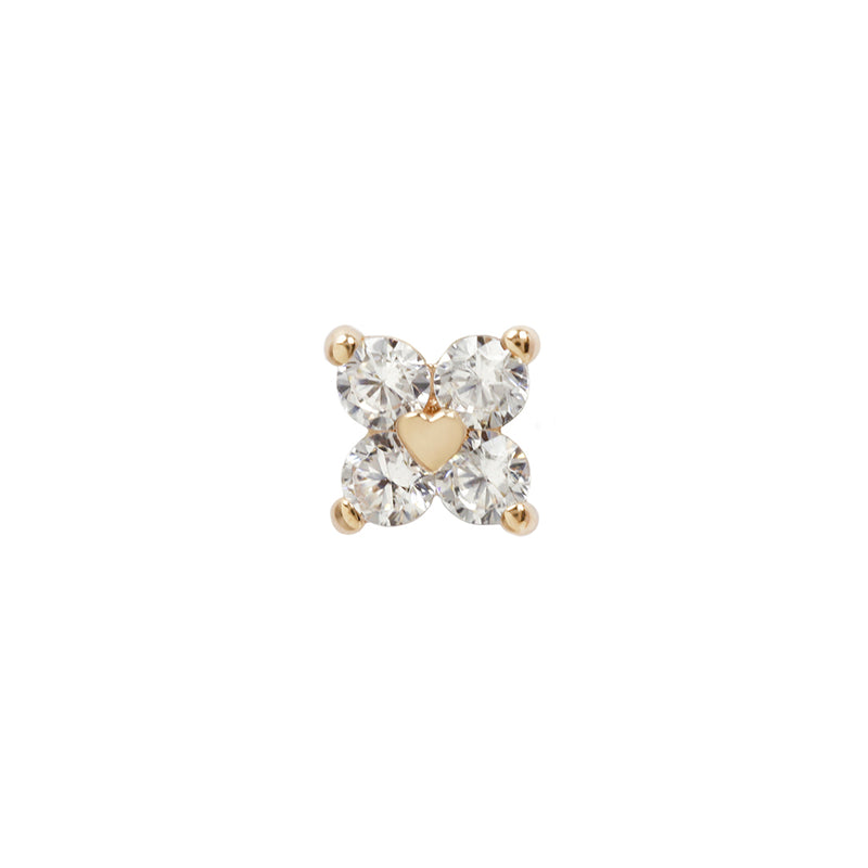 Corazon CZ in yellow gold