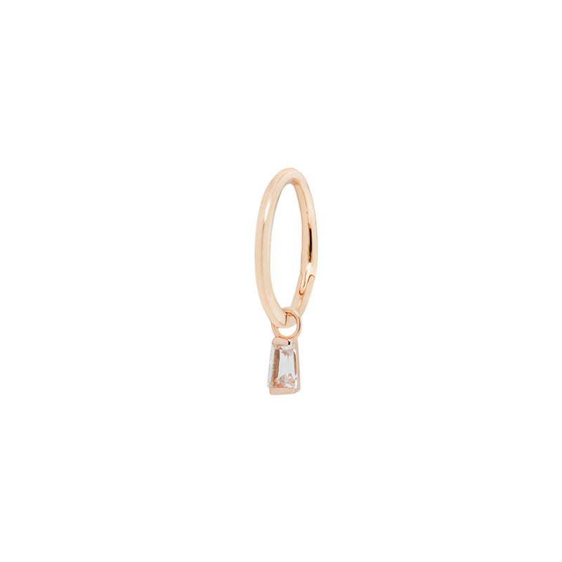 Madeline Charm in rose gold on ring
