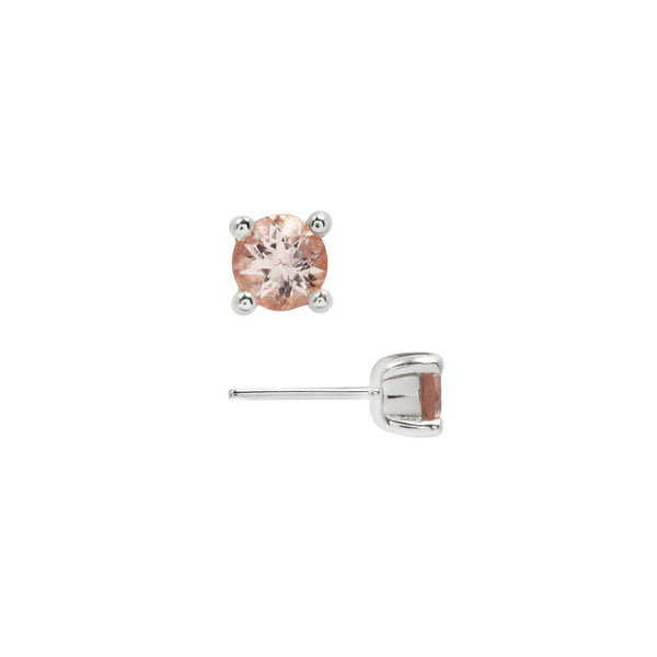 Morganite Prong White Gold