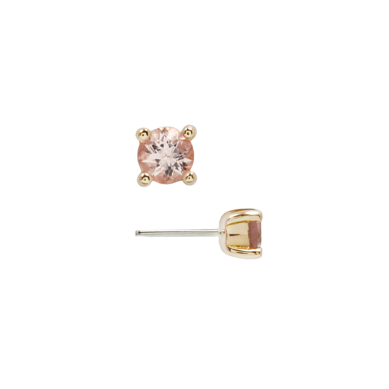 Morganite Prong Yellow Gold