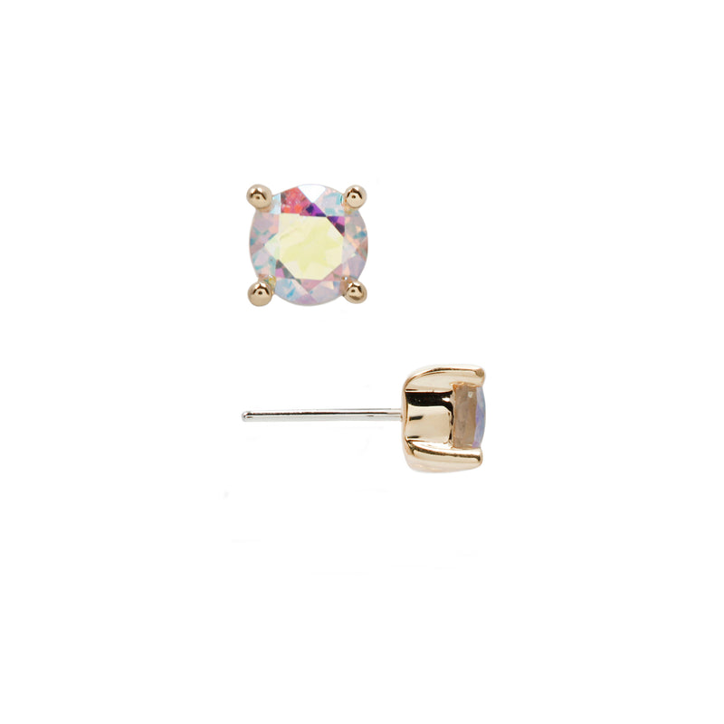 Mercury Mist Topaz Prong Solid yellow Gold Side view