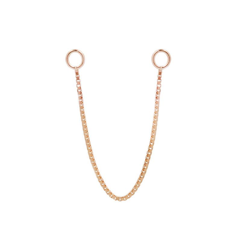 Box Chain single - Rose Gold