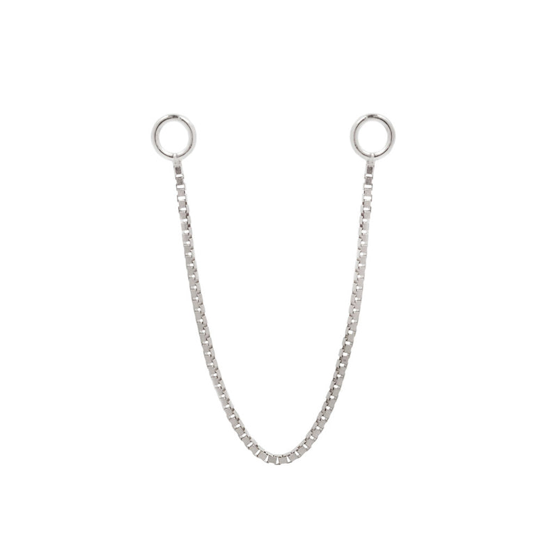 Box Chain single - White Gold