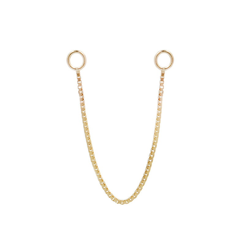 Box Chain single - Yellow Gold