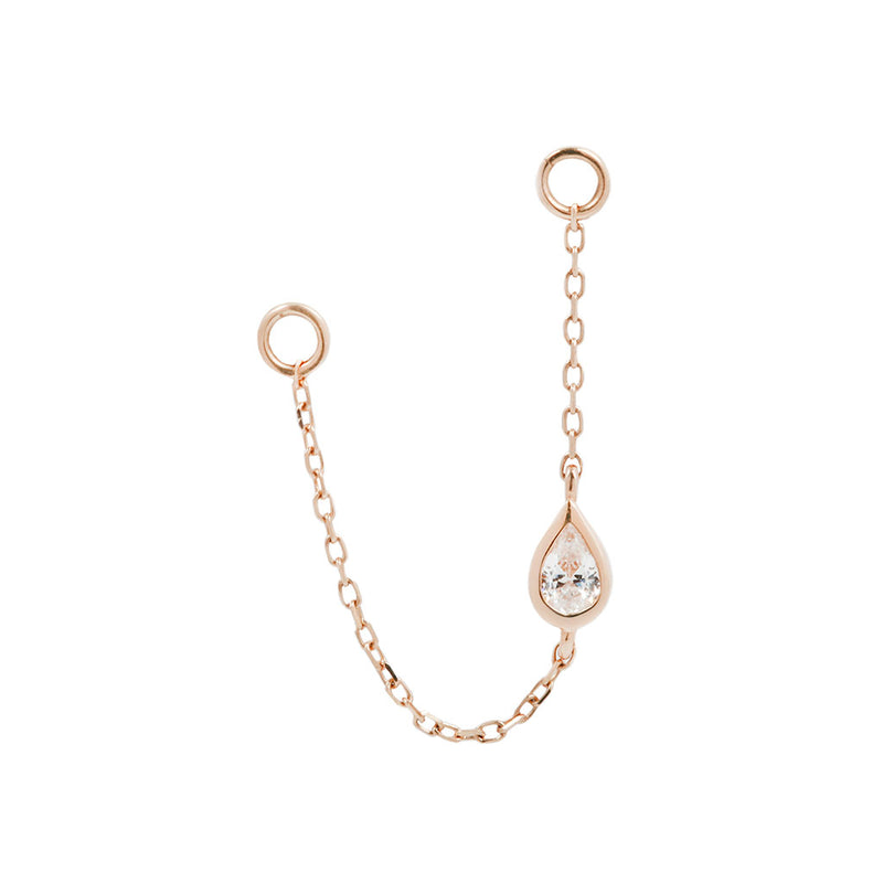Teardrop Chain Rose Gold