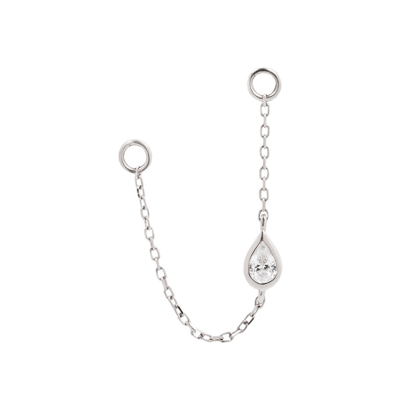 Teardrop Chain White Gold