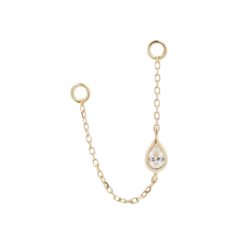 Teardrop Chain Yellow Gold