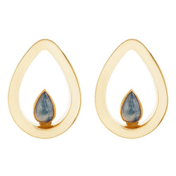 Evoke Blue Kynaite Yellow Gold Mayan Plugs