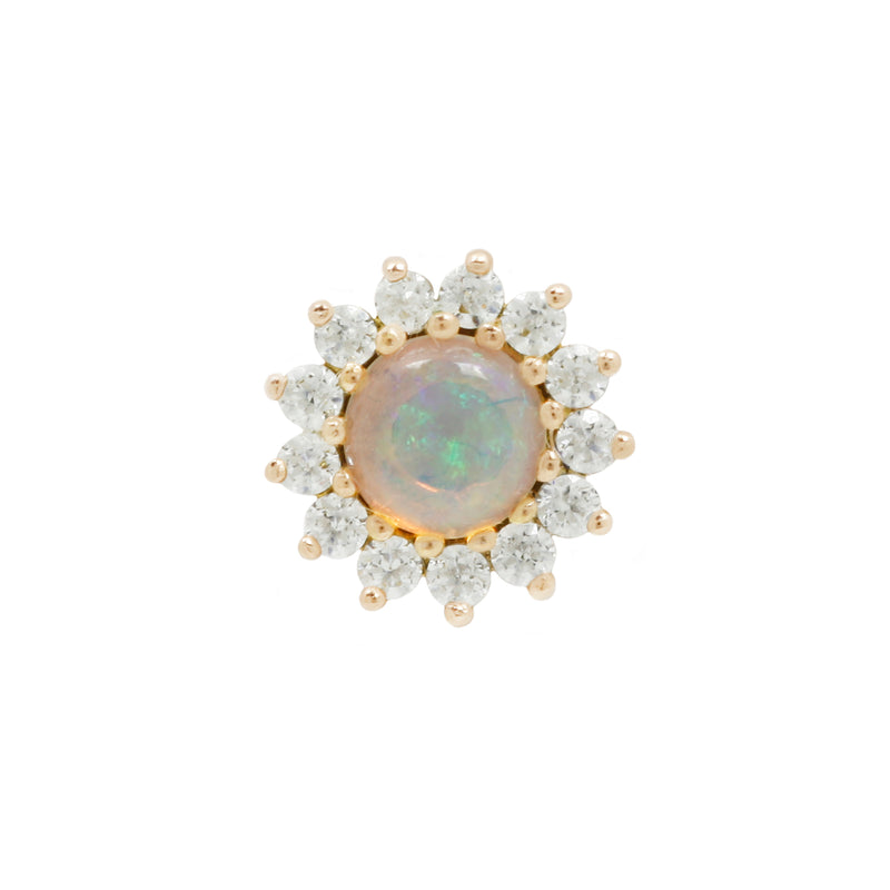 Delphine Opal + CZ in a yellow gold
