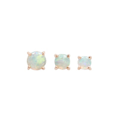 Opal Prong Cabochon Threadless Ends