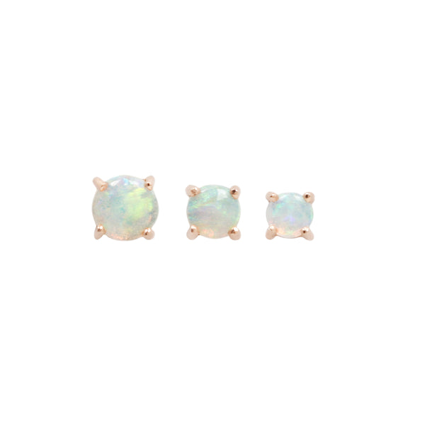 Opal Prong rose gold