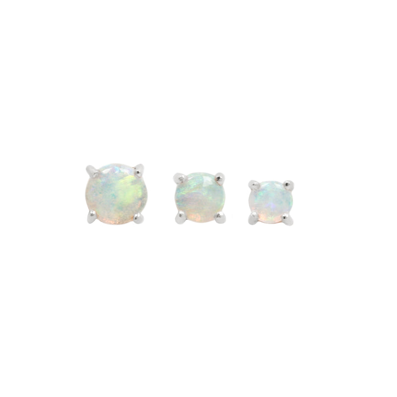 Opal Prong white gold
